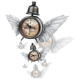 sandra24 - Clock With Wings - Ilustrationen
