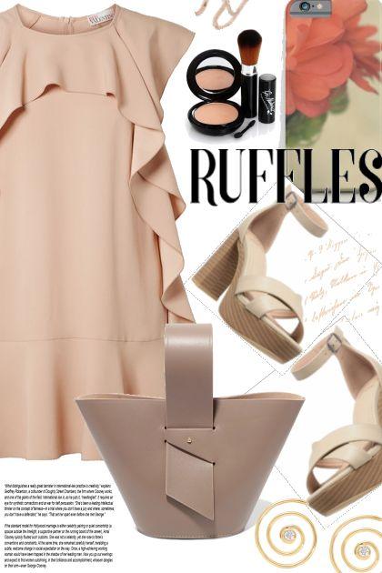 Get The Look. Nude Ruffles