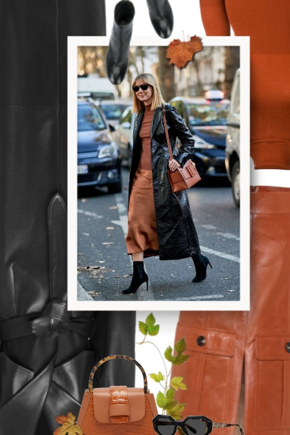 What do you wear with a leather skirt in the fall?