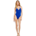 Bev Martin - Blue One Piece Swimsuit - People