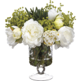 Rocksi - Faux Peony, Succulent & Baby's Breath Ar - Furniture