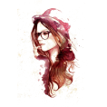 pwhiteaurora - Female Head wearing Hat Illustration - Illustrations