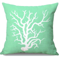 ValeriaM - Throw Pillow Light Green Coral - Furniture